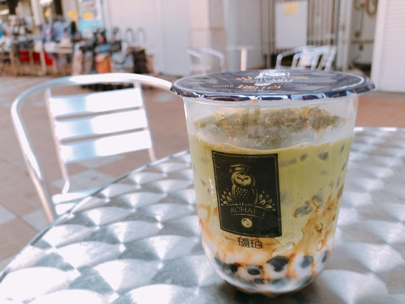 琥珀小樽タピオカ黒糖抹茶ミルク